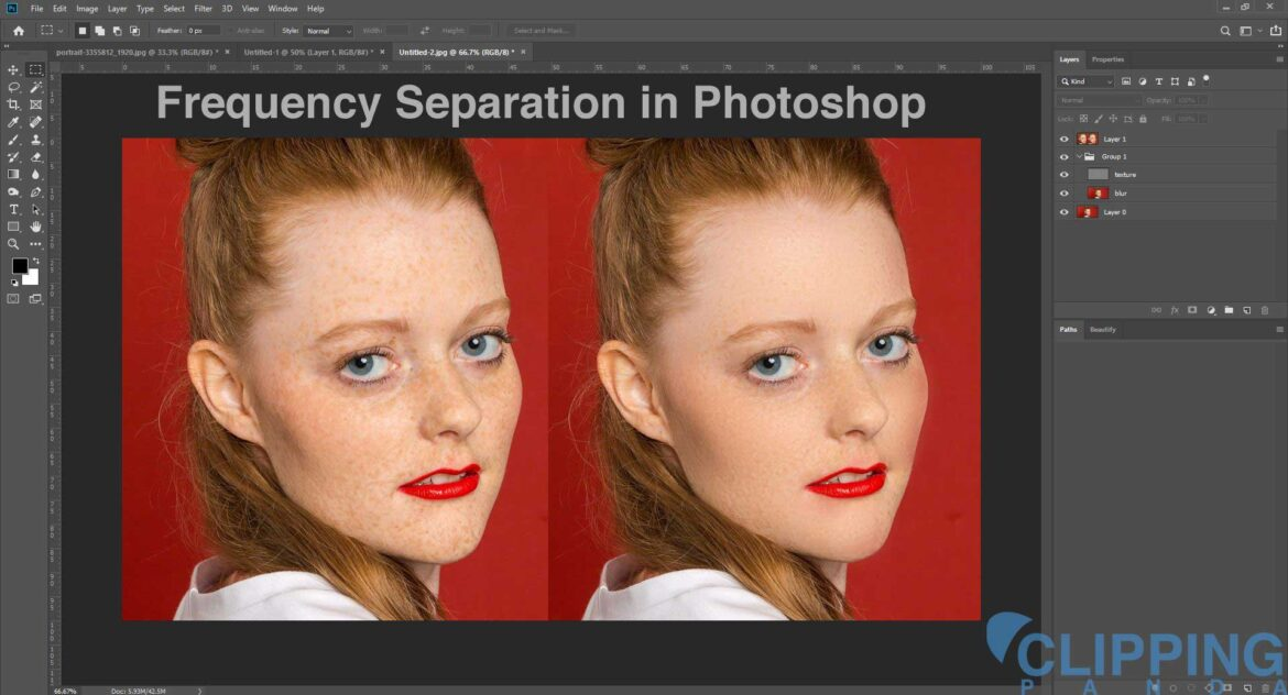 Frequency Separation in Photoshop