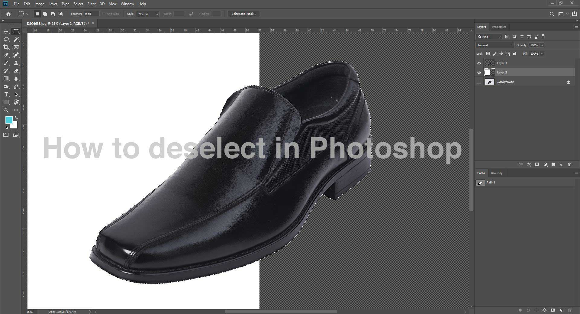 how to deselect in photoshop