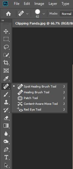 Spot Healing Brush Tools