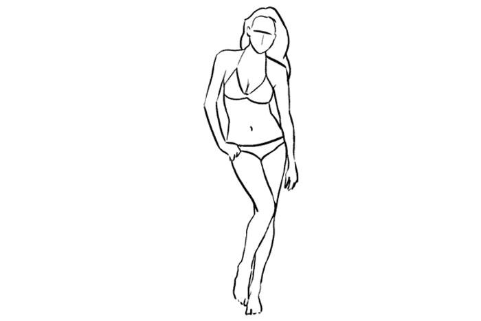 S shape pose