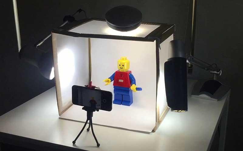 Complete-setup-of-a-DIY-light-box