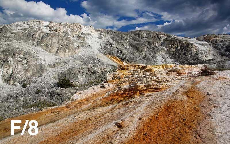 Landscape with mid-range aperture