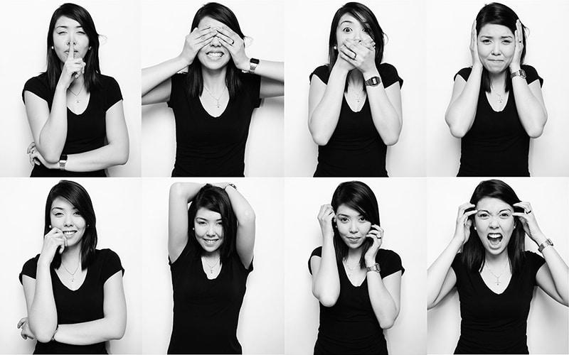 Few Poses of Black & White Photography
