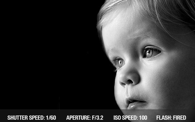 Black and White portrait best aperture