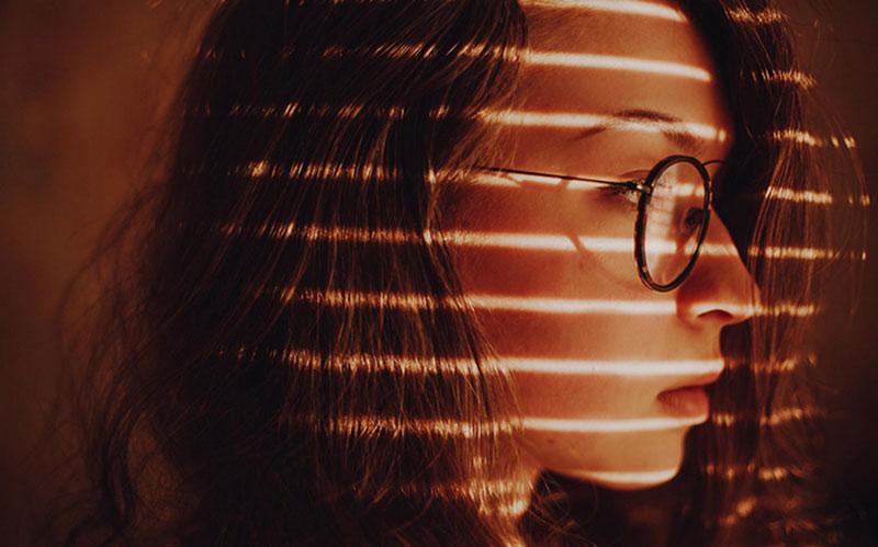Portrait of artistic light as a frame